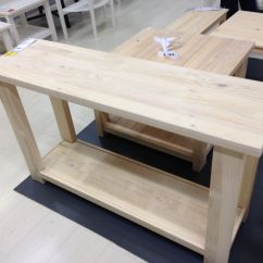 Pine Sofa Tables Lightweight Rekarne Whitewashed Solid Console Table Ikea 130