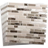 Smart Tiles 6-Pack White, Beige, Brown Glossy Composite ...