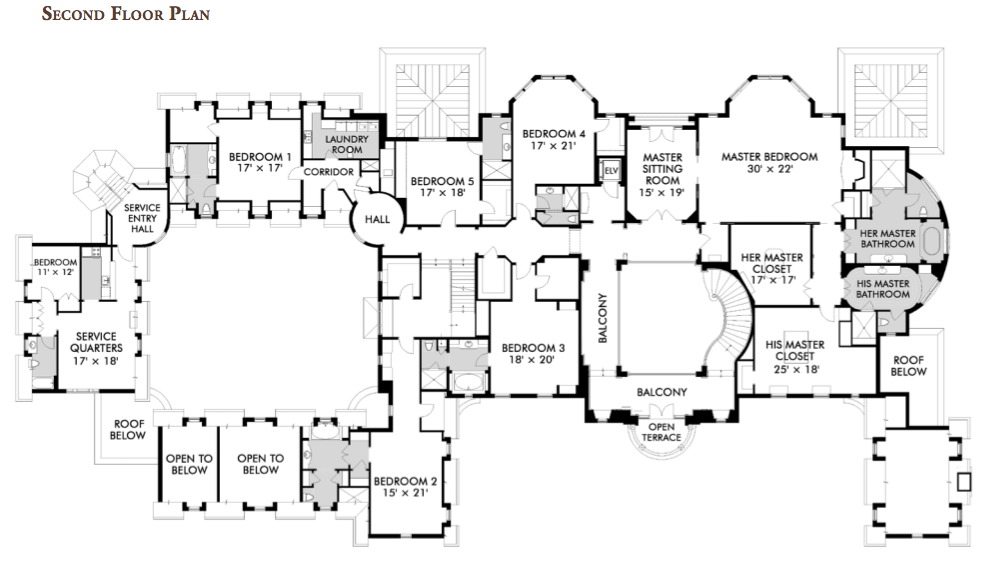 Stone Mansion Alpine Nj Floor Plan