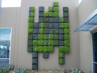 interior design magazine cover with green living wall ...