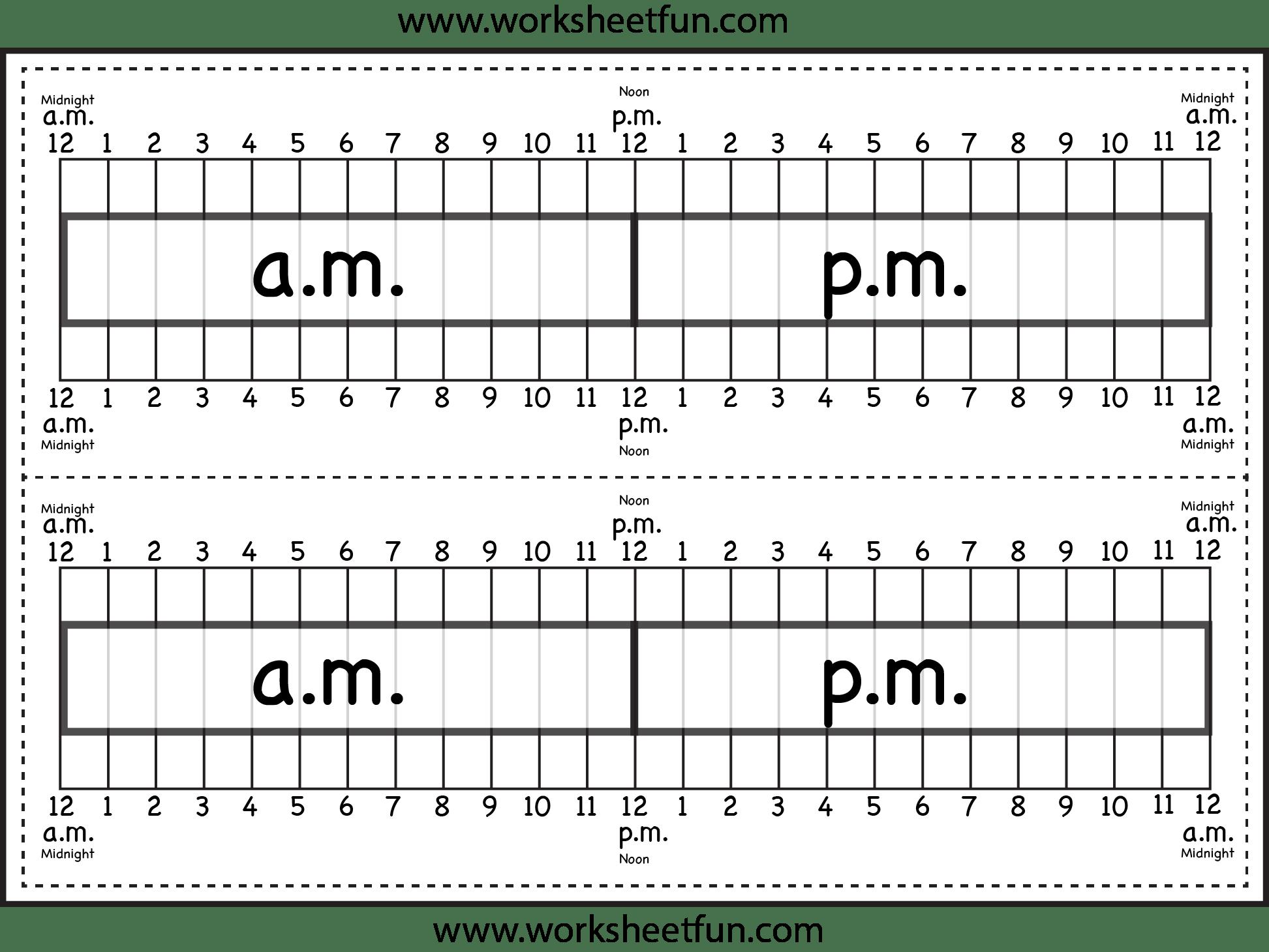 Elapsed Time Ruler Worksheet 2 Rulers On 1 Worksheet
