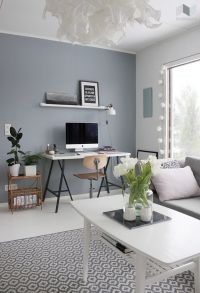 Grey Blue Wall Paint- like the paint and the rug... not ...
