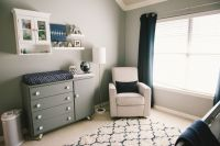 Modern | grey white navy baby boy nursery | Grayson Daniel ...