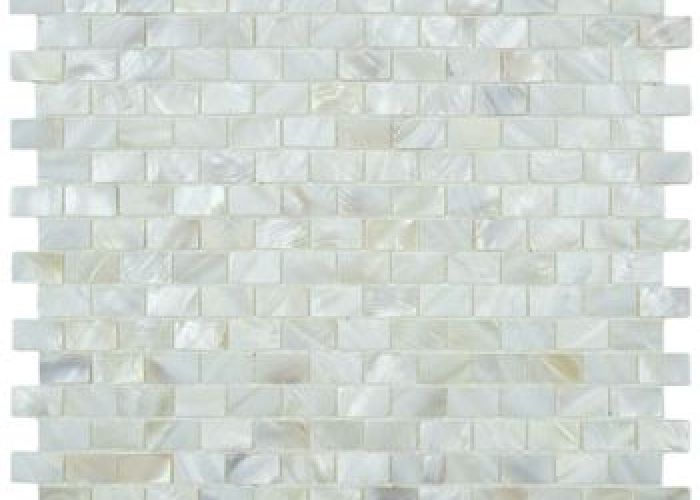 Glass with mop for durability also mother of pearl seashell mosaic white fi