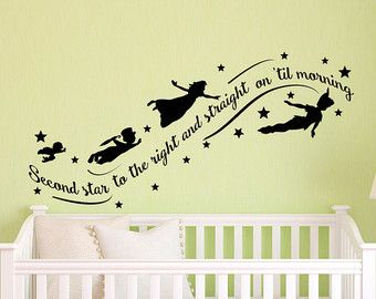 peter pan wall decal quote to die would be an by fabwalldecals