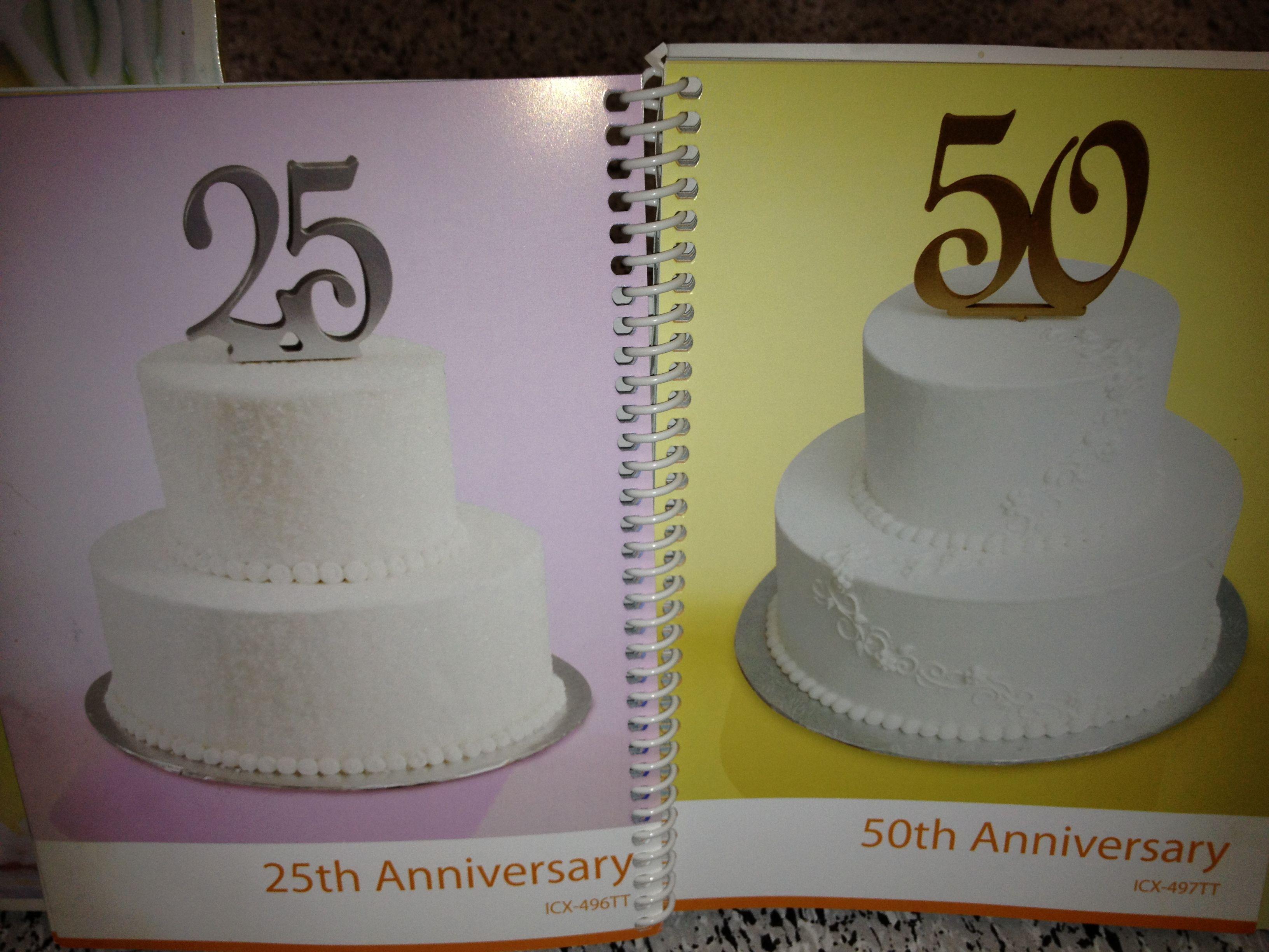 Walmart WedAnn Cakes 2 50th Wedding Anniversary