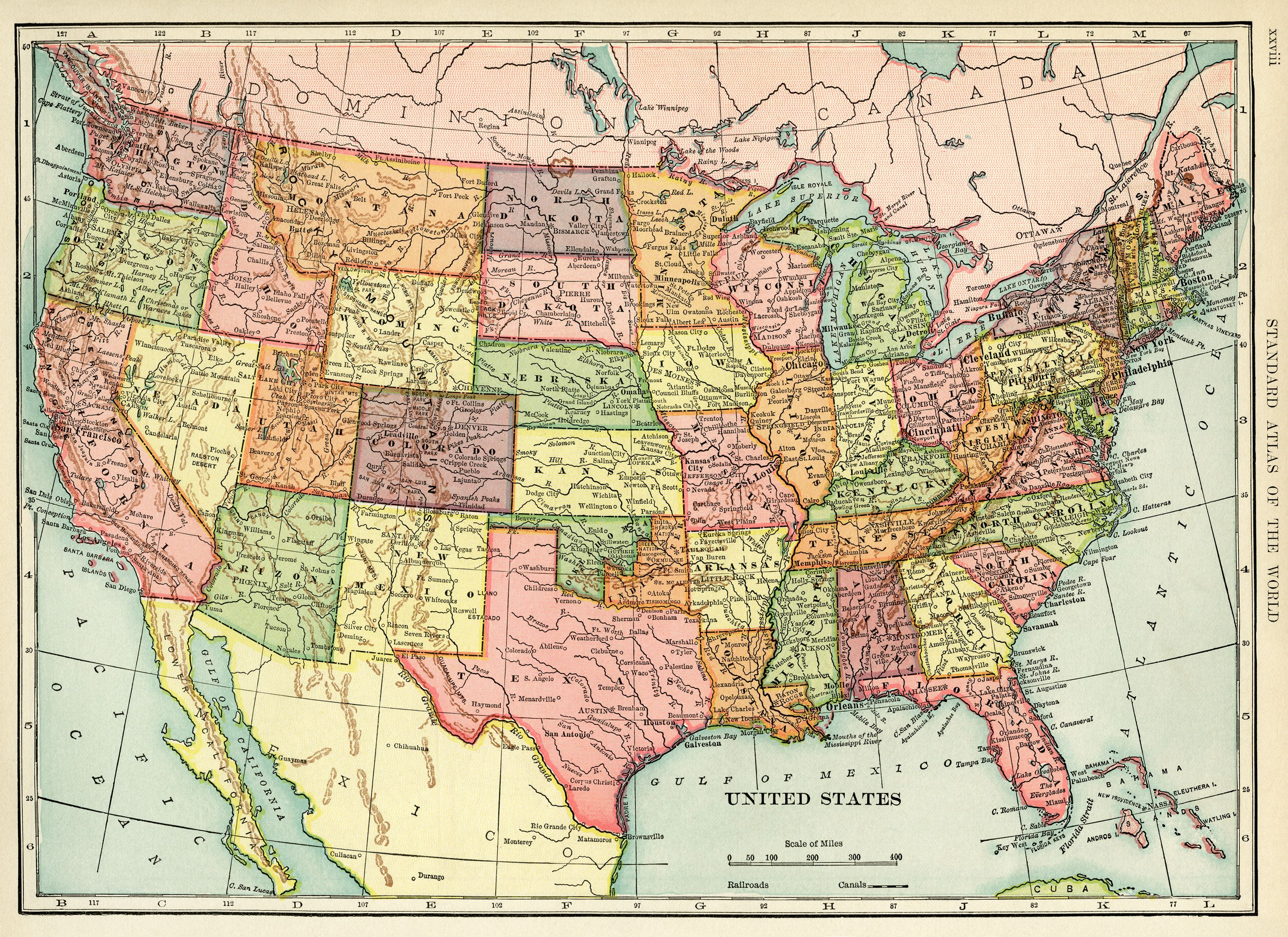 United States Map Vintage Map Download Antique Map History Geography