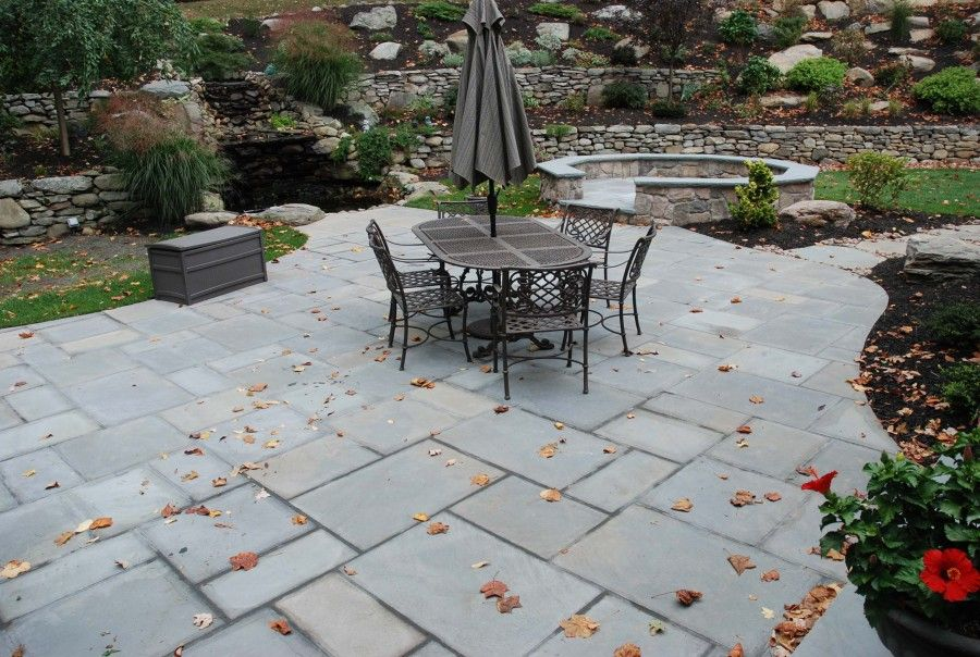 bluestone patio ideas on Pinterest  Stone Patios Garden Seating and