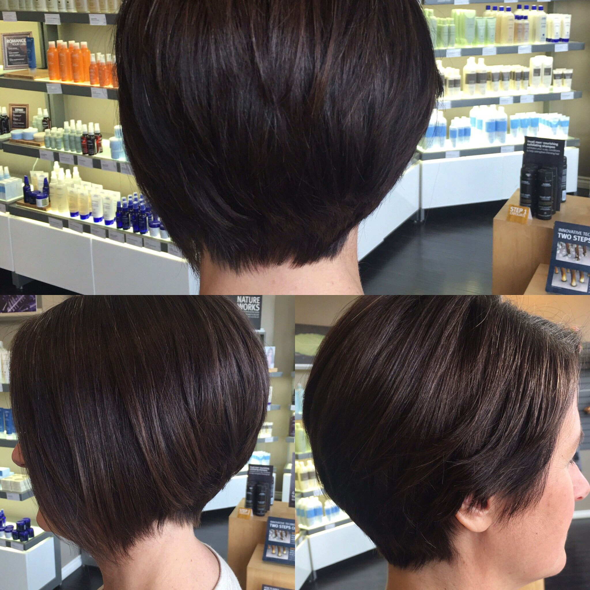 Hair by Kendra Asymmetrical razor cut bob To book an appointment
