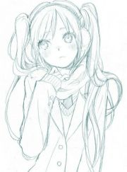 anime art girl. . .scarf