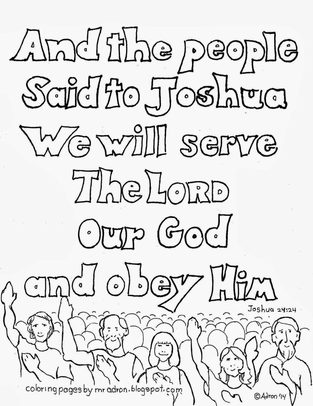 Coloring Pages for Kids by Mr. Adron: We Will Serve The