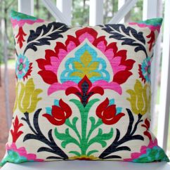 Bright Colored Sofa Pillows Black Friday 2017 Decorative Pillow Cover Desert Flower Modern Red Pink