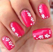 flower nail design hawaiian