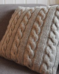Knitted cable pillow | Knitting for home | Pinterest ...