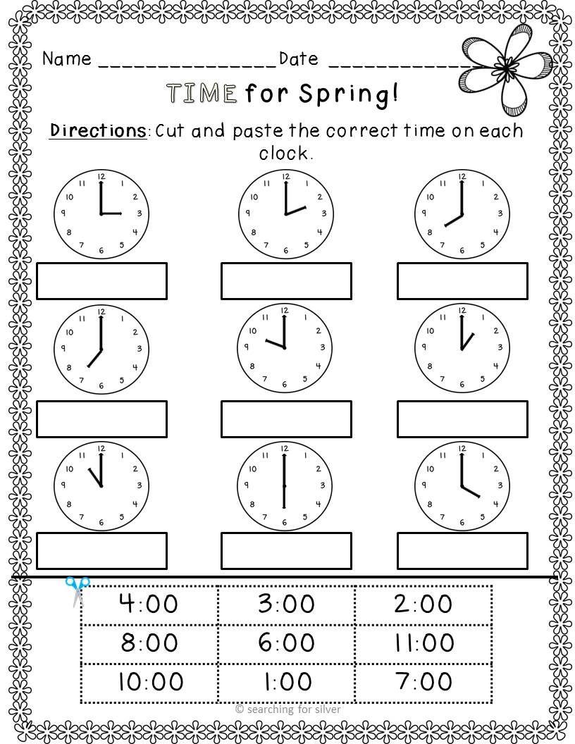 Spring Math and Literacy No-Prep {Kindergarten