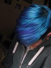 blue pixie cut - love color