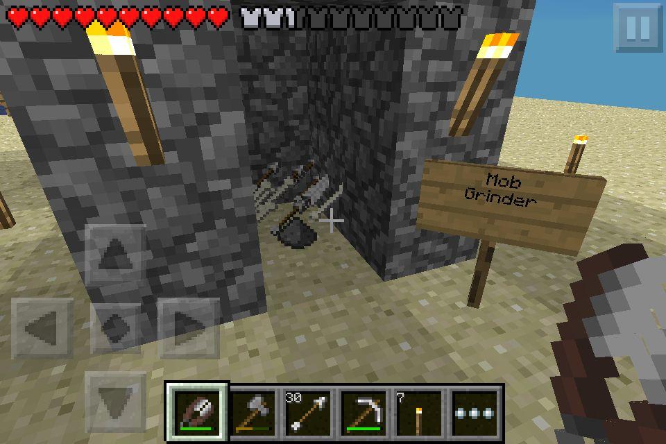 Minecraft Pe Survival Mob Grinder Minecraft Pinterest