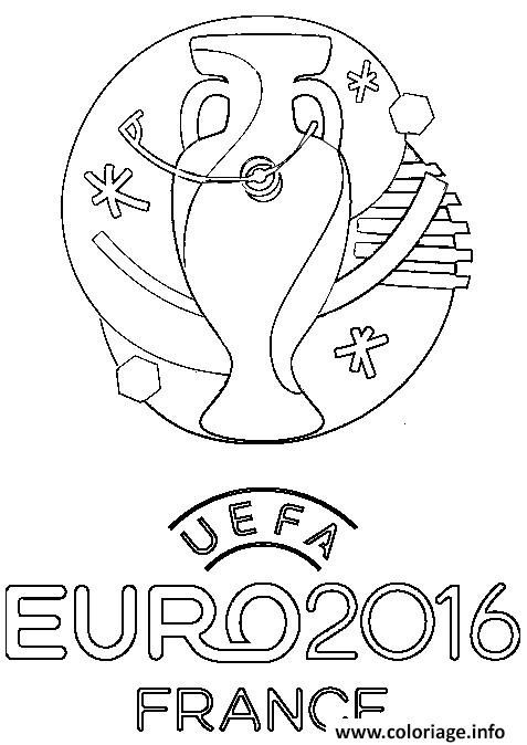 Coloriage logo euro 2016 france football foot Dessin à