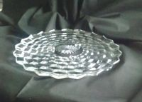 Fostoria Glass Clear American Pattern Footed Cake Plate by