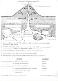 free rocks and minerals worksheets | Geology / Rocks ...
