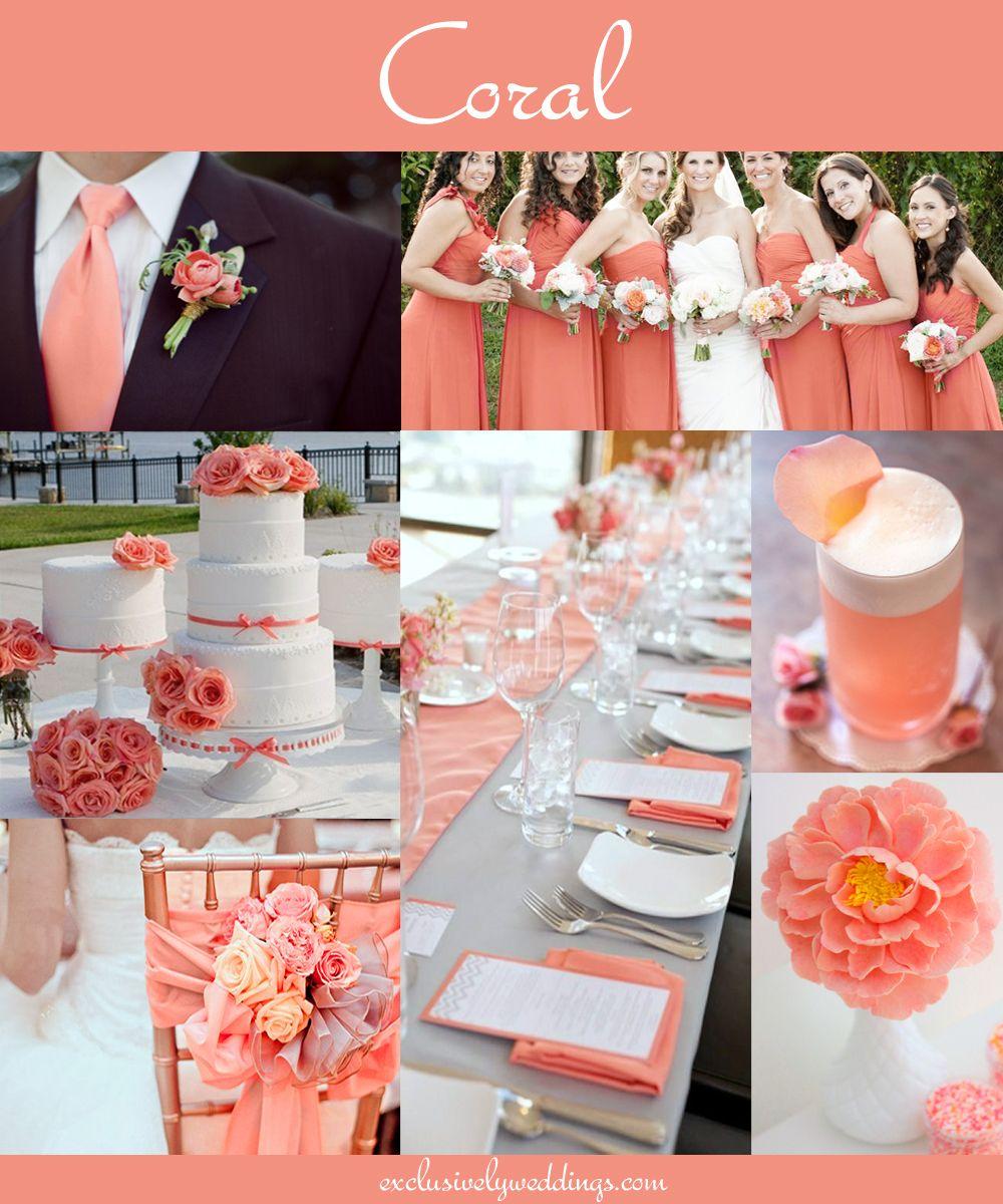 Coral Wedding Receptions on Pinterest  Coral Wedding