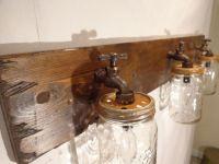 Mason Jar Vanity Light Fixture, Country Primitive, Rustic ...