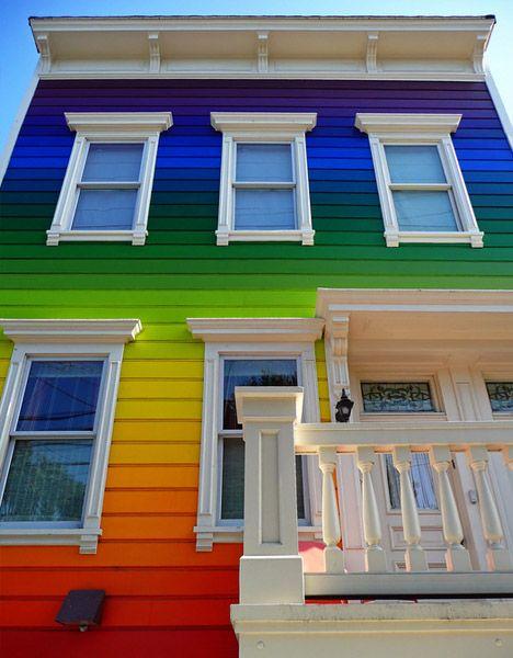 Gorgeous Rainbow House Home Ideas Pinterest Rainbow House
