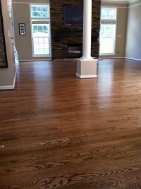 Red Oak With DuraSeal Special Walnut Stain & Bona Traffic ...