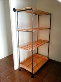 Pallet and Metal Pipe Storage Rack / Bookcase | Storage ...