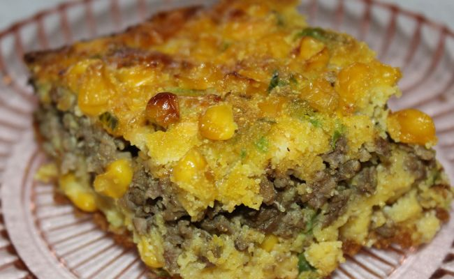 Ground Beef Jalapeno Cornbread Casserole Made This And My