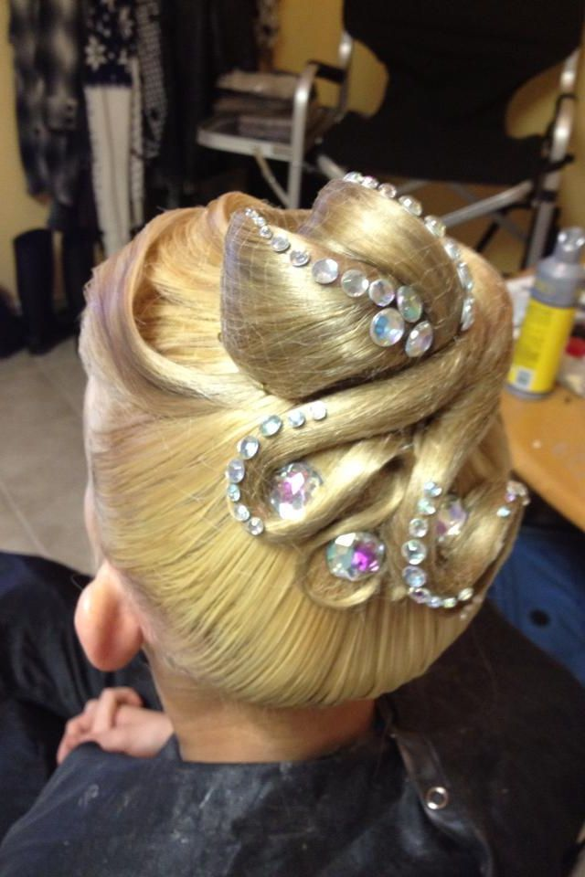Standard Updo With Stones Performance Hair Pinterest Updo
