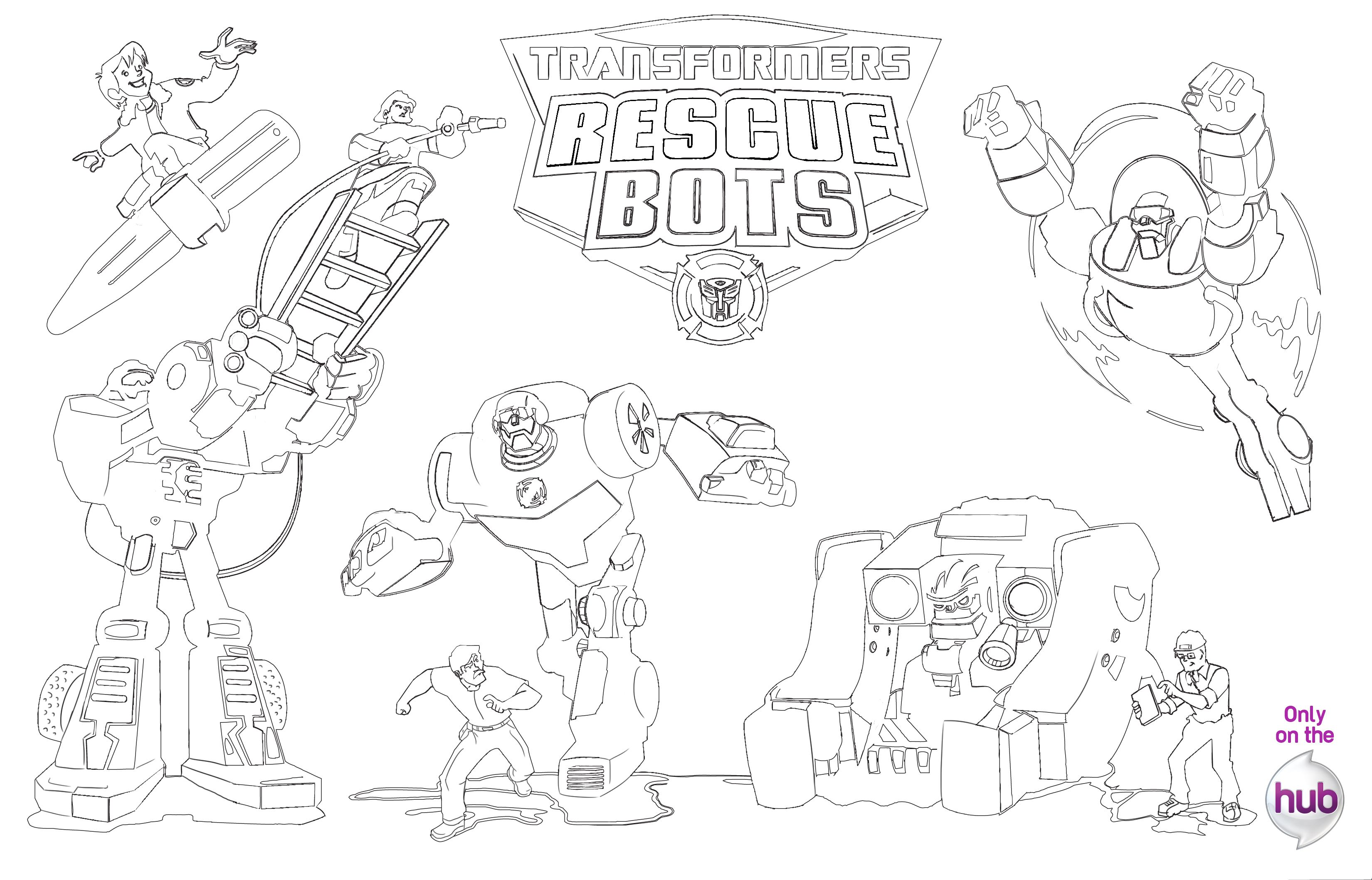 Transformers Rescue Bots: Transformer Activity Pages