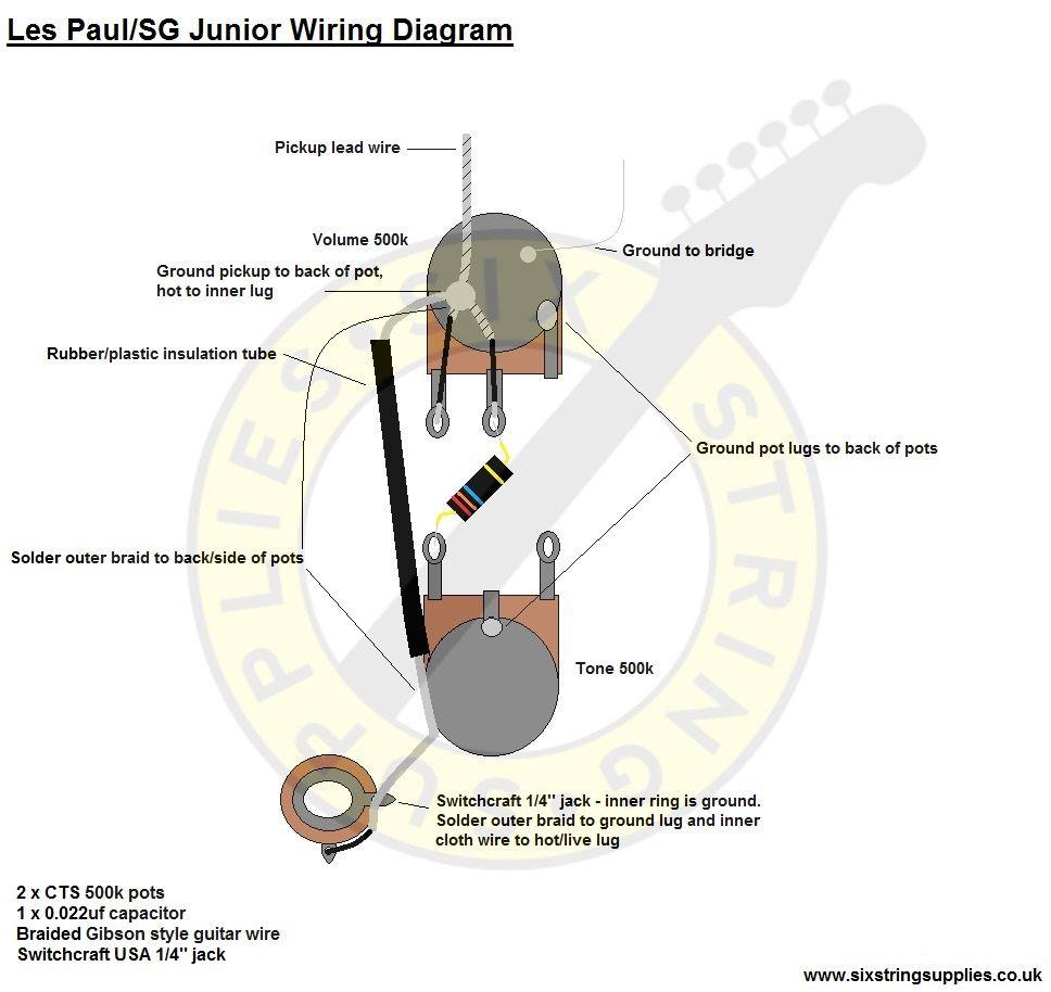 Les Paul Junior Wiring Guitar Wiring Diagrams Pinterest Les