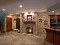images of basements with stone walls | This modern ...