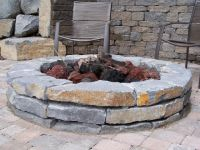 Wide Natural Stone Fire Pit | Natural Stone Fire Pits ...