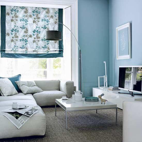 Blue Gray Living Room Paint Colors