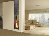 Gas Fireplace insert ROMA | Double-sided Fireplace insert ...