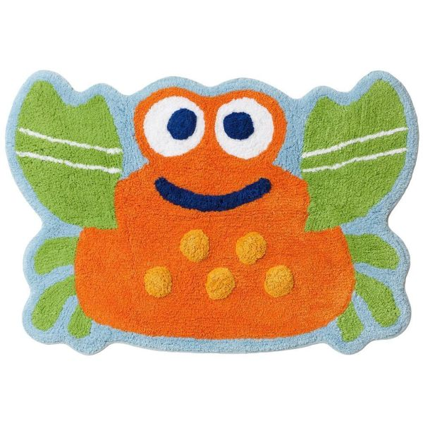 "Jumping Beans Fish Tales Crab Bath Rug 20""x30"" Cotton"