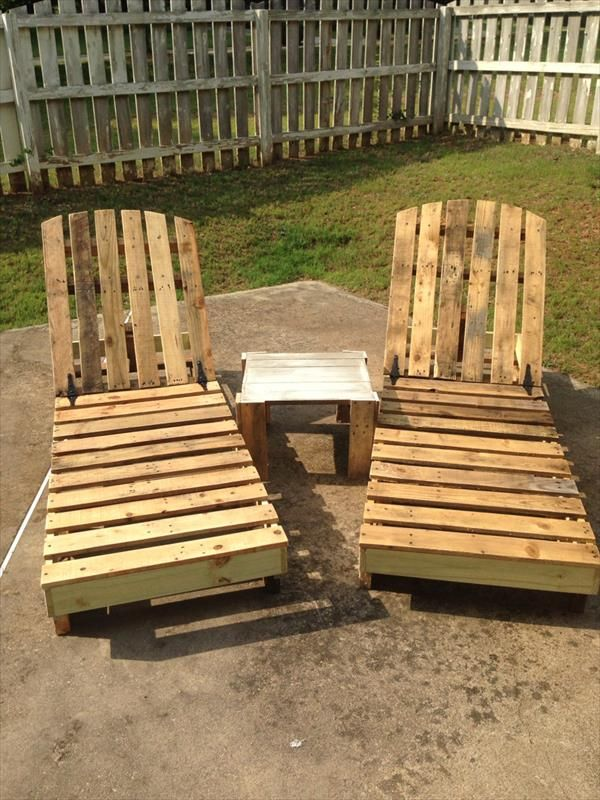 DIY Recycled Pallet Lounge Chairs