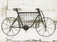 Vintage inspired metal bicycle wall art. This wall bike is ...