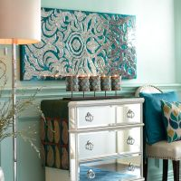 Mirrored Damask Panels - Teal | Pier 1 Imports | For the ...