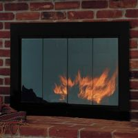 Slimline Fireplace Glass Door
