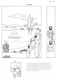 Naaman healed of leprosy craft 2 Kings 5. Free printable