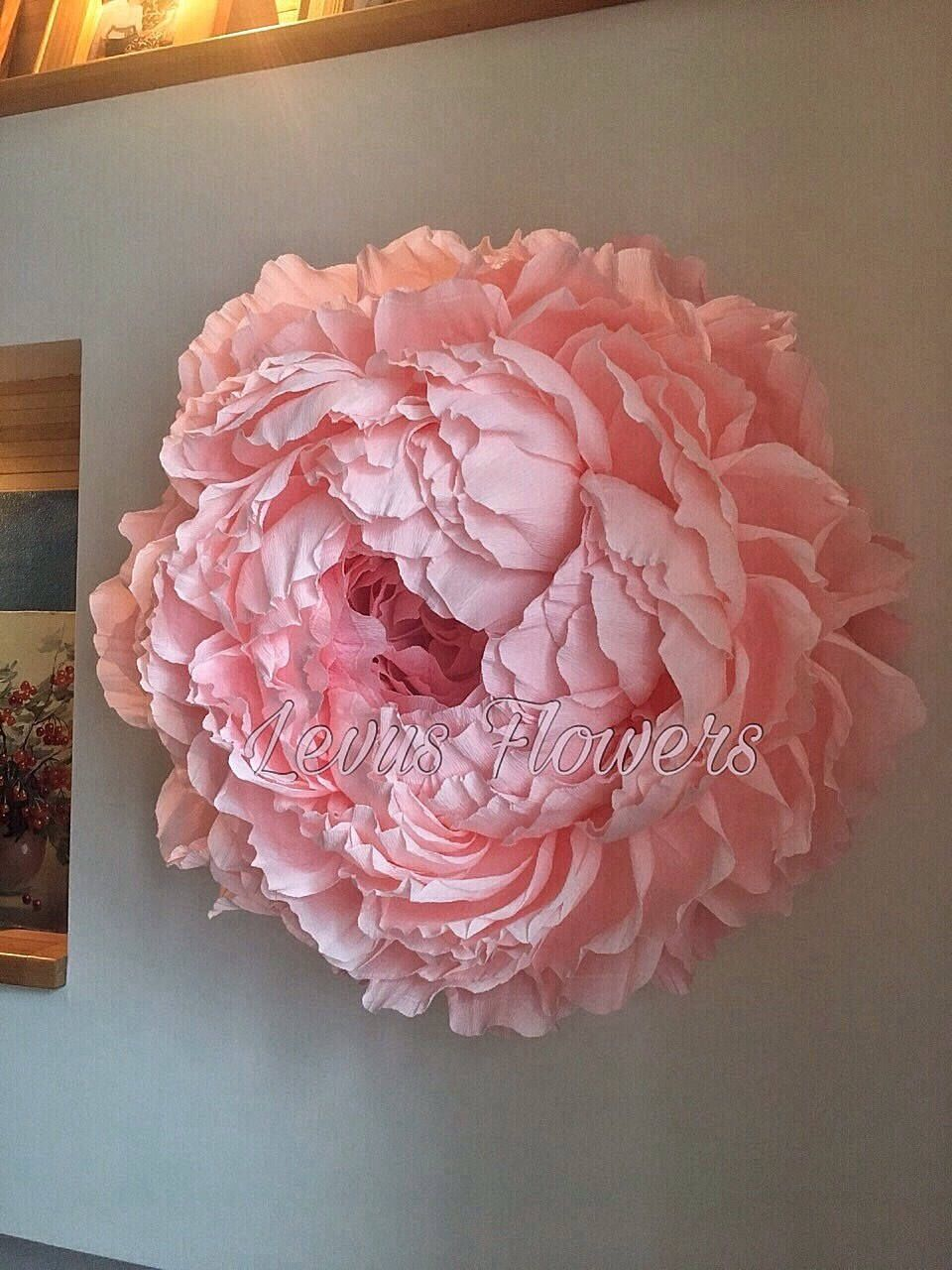 Large crepe paper flowers giant wedding decoration home decor wall peony backdrob also rh pinterest
