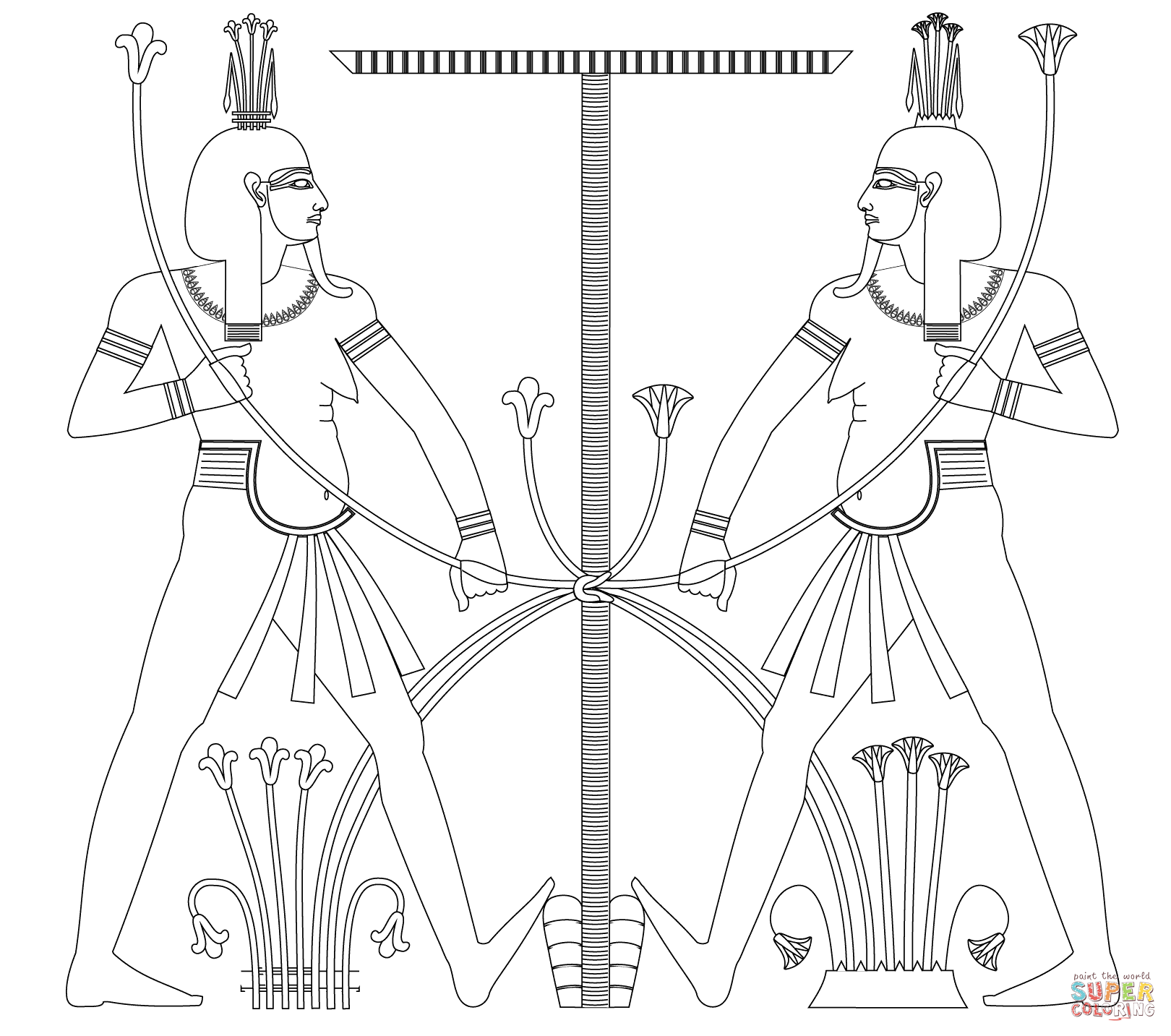 Cool Ancient Egypt Coloring Pages Free Design