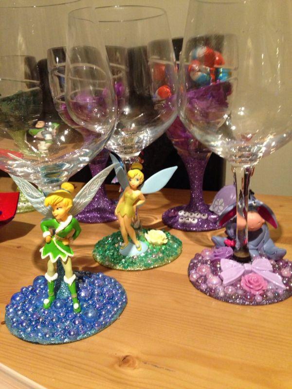 Disney Wine Glasses DIY
