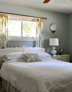 Our bedroom makeover ideas doors home decor after painted walls new lamps nightstands vintage curtains made over headboard also before   and make for my rh pinterest