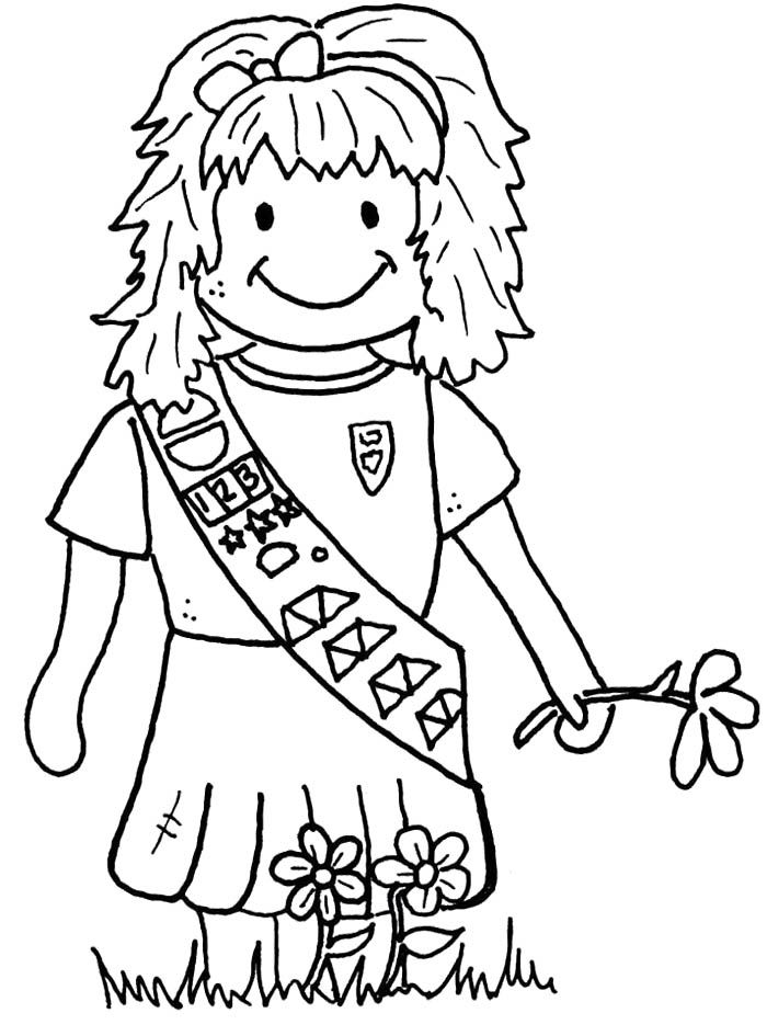 Girl Scout Daisy Petal Coloring Pages Sketch Coloring Page