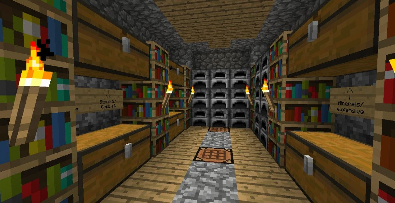 Storage Room Idea Minecraft Project Minecraft Ideas Pinterest