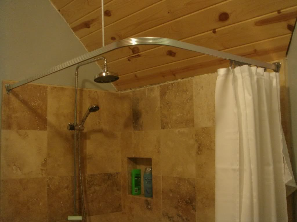 Cheap 90° Shower Curtain Rod Ceiling Curtains Pictures Of And